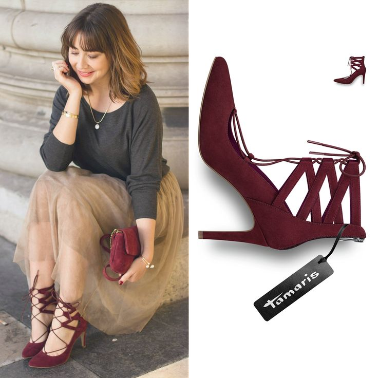 Picture by Du_Style_Madame Art.-Nr.: 24418 #pumps #highheels #heels #red #lacing #tamaris