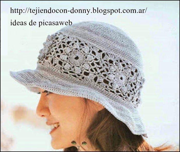 Mejores 57 imágenes de sombreros a crochet en Pinterest | Sombrero ...