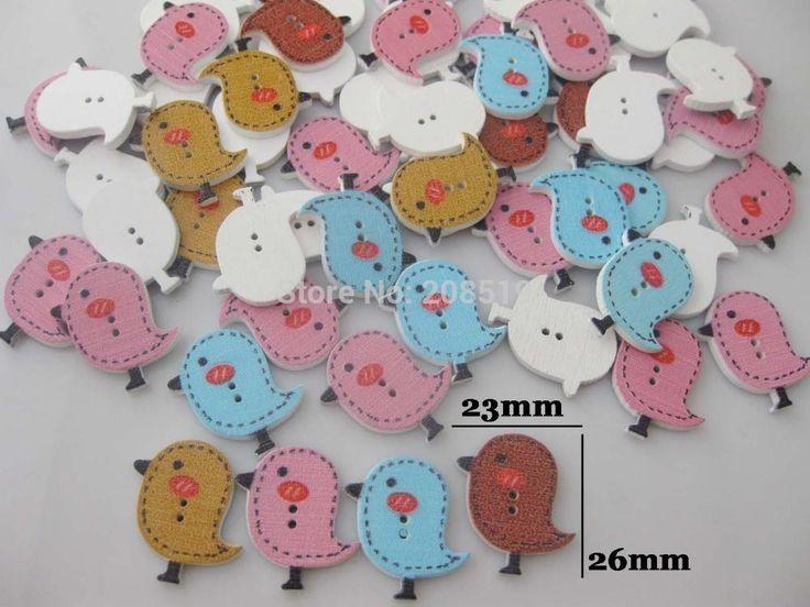 Standing Bird Buttons Mix 200pcs/lot randomly flatback sewing Supplies