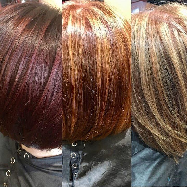 Rot färben blond Rote Haare
