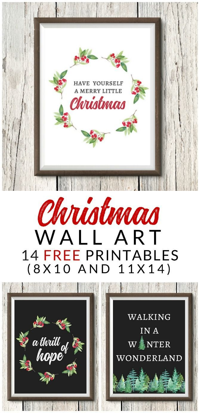 These FREE Farmhouse Christmas Art Printables are perfect for your holiday decor and gallery walls. 14 free classic Christmas printables.