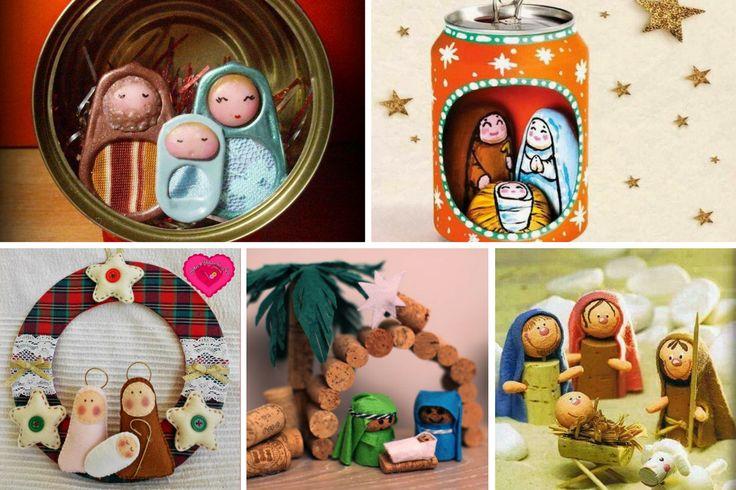 Hermosas Ideas Para Decorar Con Nacimientos Navideños En Miniatura… ¡La #3 Fue Amor A Primera Vista! | Tutoriales Y Moldes