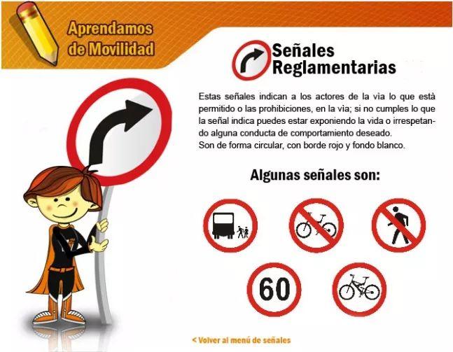 Las señales reglamentarias - Secretaria Distrital de Movilidad