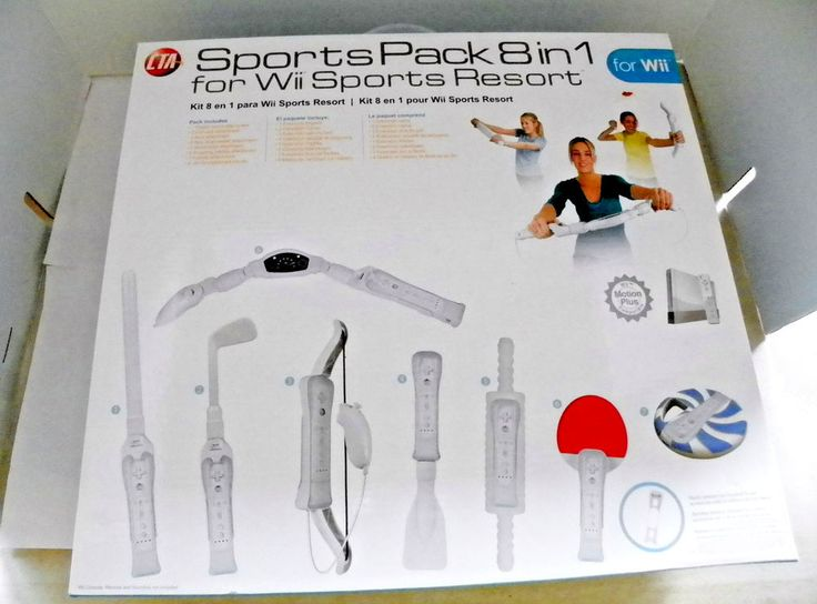 CTA SPORTS PACK 8 IN1 for Wii SPORTS RESORT Wi-8SR. Wii MOTION PLUS COMPATIBLE.  #CTADigital