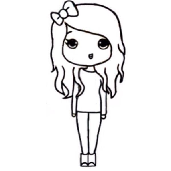 Chibi template | Chibi | Pinterest | Girls, Chibi girl and ...