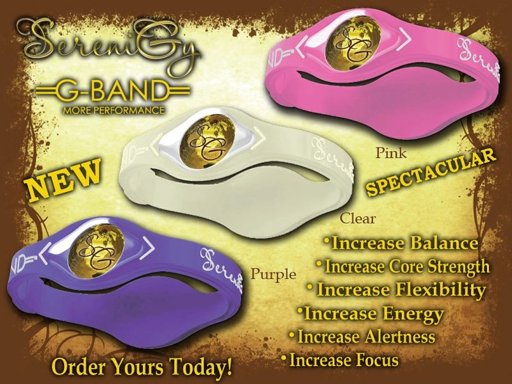 3 New G-Band Available - Pink, Clear and Purple,Order Yours now