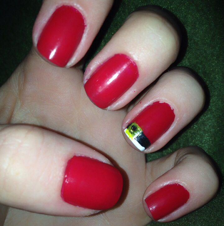 Santa Clause Christmas nail design 2014