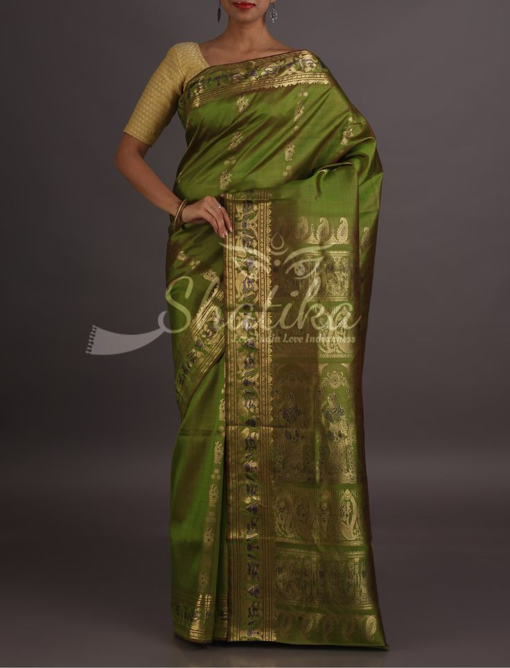 Reema Scene From Epic In Gold Threads Enchanting Baluchari Saree