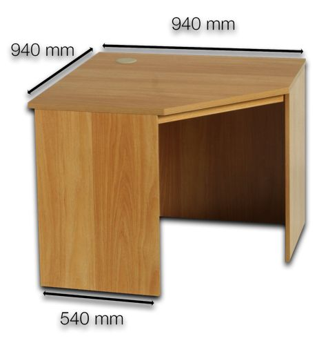 R White – Oak Corner Desk With Slide out Shelf