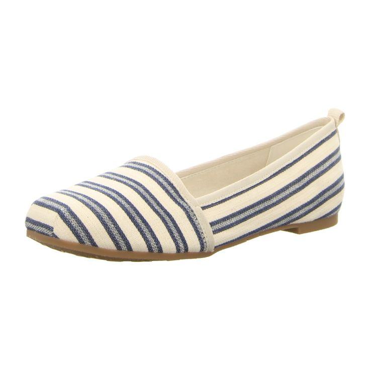 NEU: Tamaris Slipper 1-1-24668-28-874 - navy stripes -