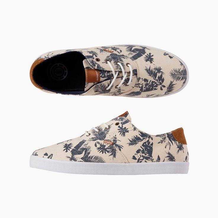 #element #spring #summer #sneakers #shoes #floral #print #tropicalthunder  http://www.urbag.cz/letni-panske-kosile-tenisky-doplnky-znacky-element-kolekce-tropical-thunder/
