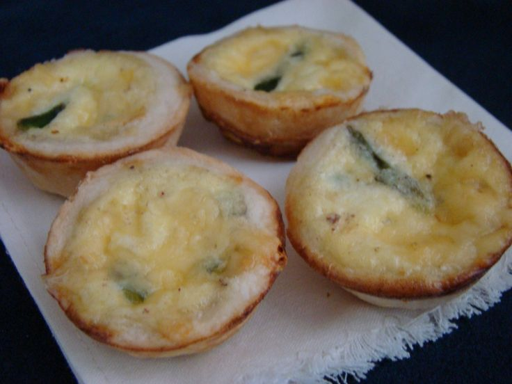 mini asparagus and gruyere quiches | Appetizers | Pinterest