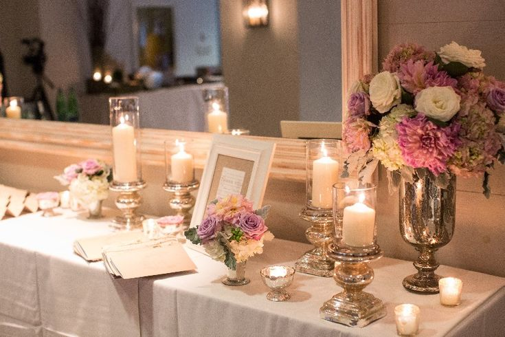 gorgeous guest book table!