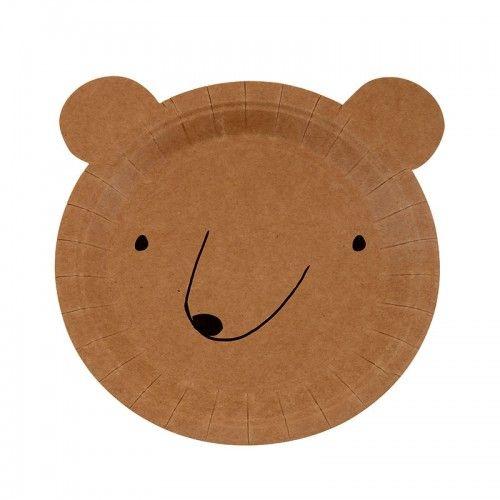 Bear Plates By Meri Meri