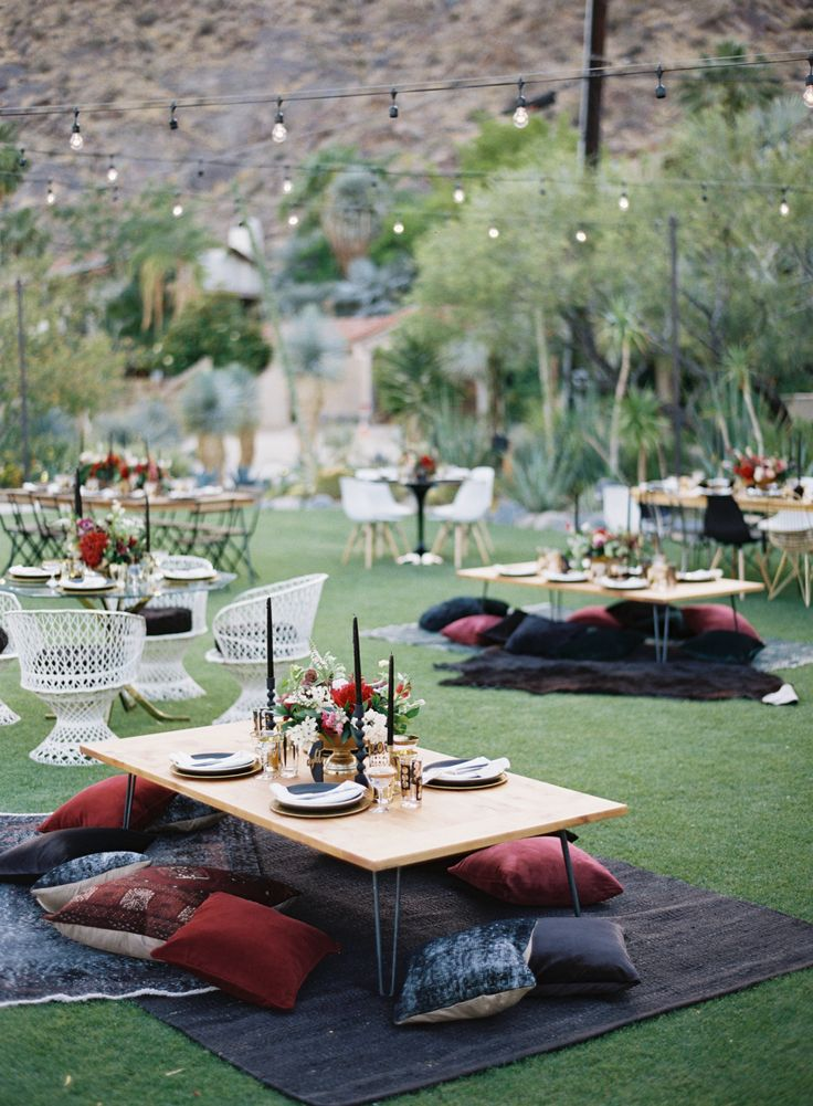 Photography : Ashley Kelemen | Venue : Colony 29 | Event Planning : Amorology | Event Design : Amorology Read More on SMP: http://www.stylemepretty.com/2016/08/30/modern-unique-palm-springs-teepee-wedding/
