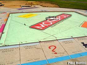 Giant Permanent Outdoorm Monopoly board - San Jose, California