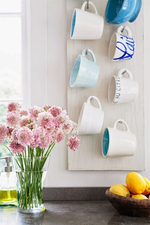 ll you need is a piece of wood and some nails to create a pretty organizer that takes full advantage of tall walls. Click through for more on how to organize coffee cups.