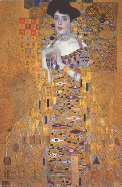 A great poster of a Gustav Klimt masterpiece! His Portrait of Adele Bloch-Bauer, an art-loving Viennese salon lady and patron. Fully licensed. Ships fast. 24x36 inches. We have a fabulous selection of