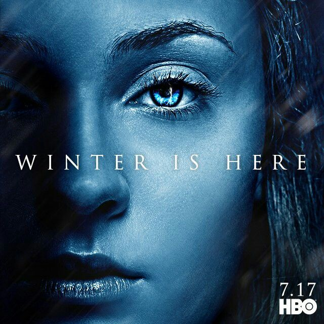 Winterishere Sansa Stark Promo Poster With Images Game Of