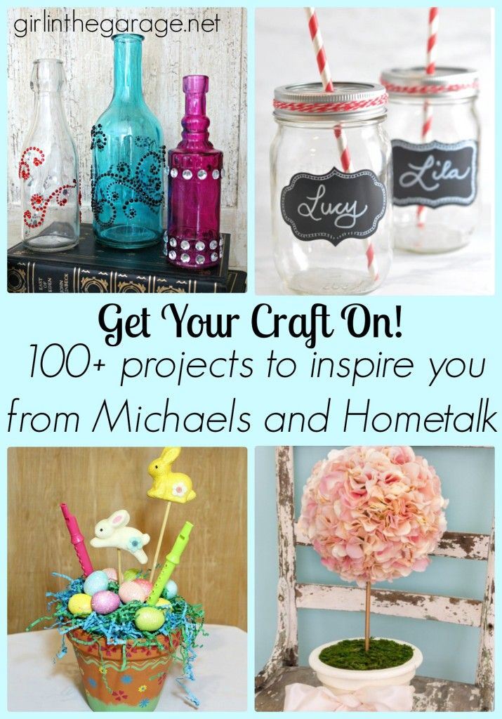 100+ Craft Projects to Inspire You (From Michaels and Hometalk) girlinthegarage.net #MPinterestParty