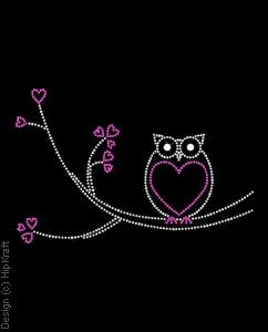 black & purple owl