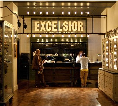 Hotels & Lodging: Ace Hotel in New York : Remodelista. Reclaimed cabinetry and industrial lighting