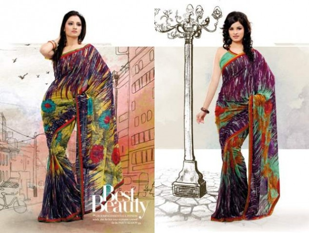 Multi Color Sarees Collection by Mukta Mishree Exports | Fandiz India - Latest Indian Fashion Trends