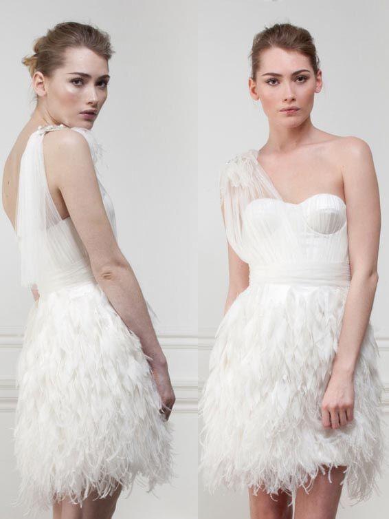 feather matthew williamson wedding dress