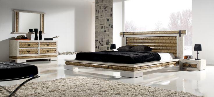 Dormitorio de bambú modelo sha.