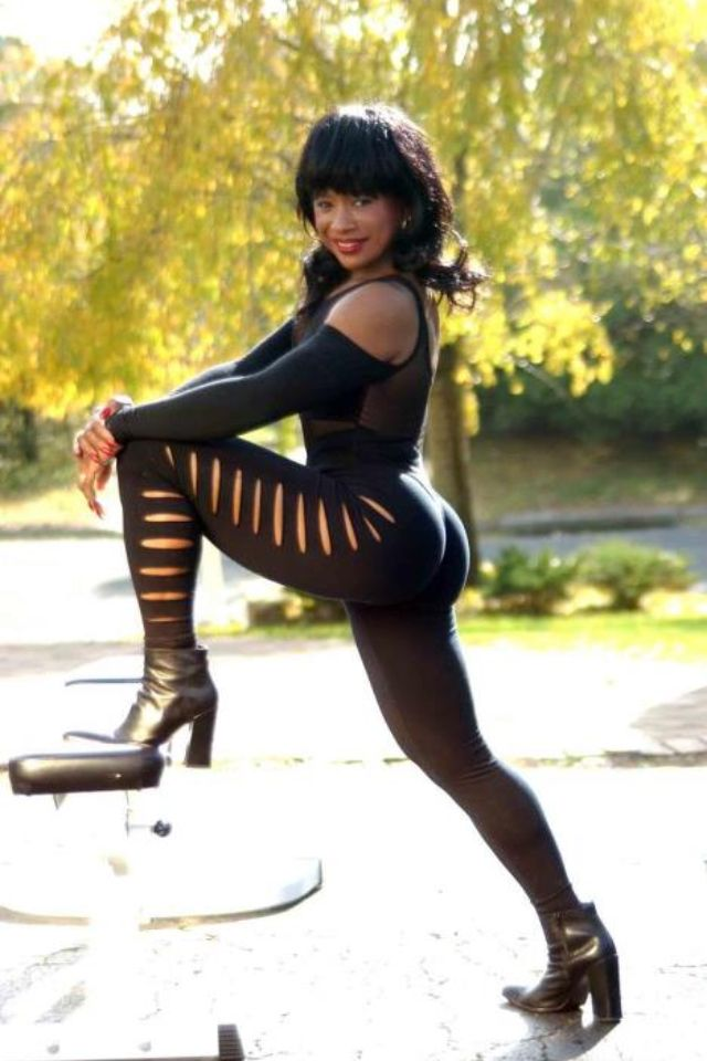 beautiful fit black woman