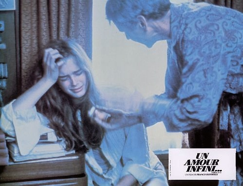 """Brooke Shields and Don Murray in Franco Zeffirelli's """"Endless Love, 1981."""