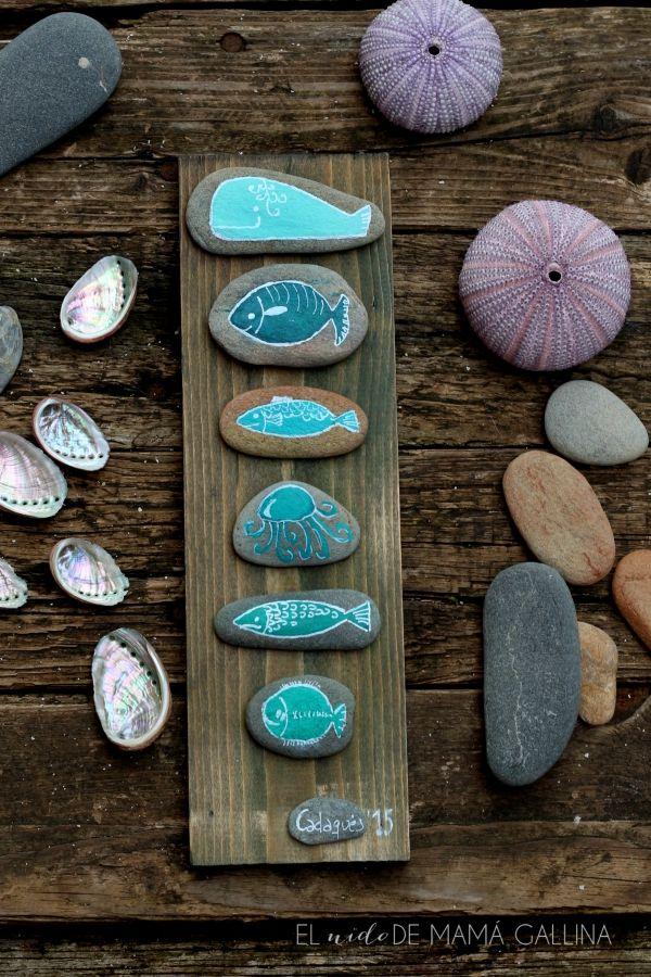 DIY: Cómo hacer un cuadro con peces de piedra