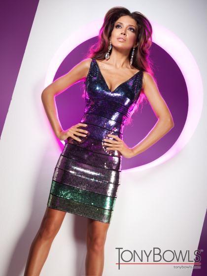 2013 Tony Bowls Short Dress TS11359 at Peaches Boutique