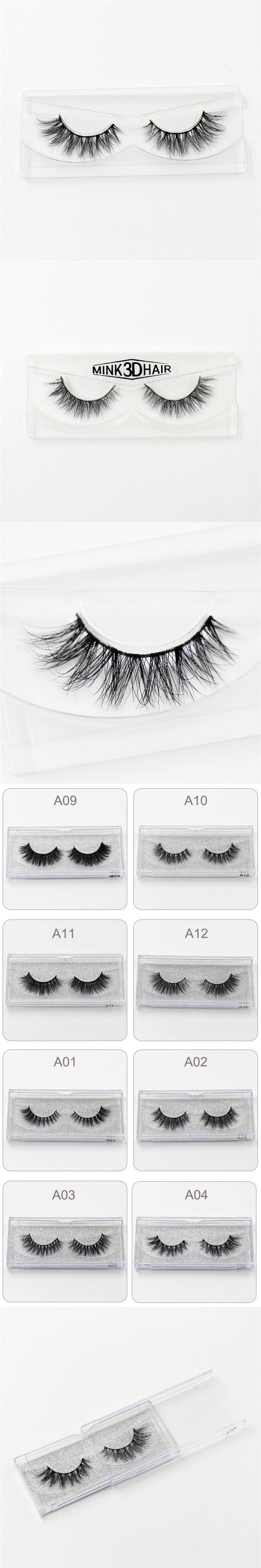 3D Mink Eyelash Real Mink Handmade Crossing Lashes Individual Strip Thick Lash Fake Eyelashes A04