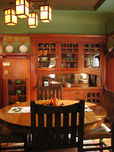 Love this green! Look up mfg for furniture details..like built in as a buffet idea