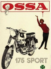 Vintage Ossa 175 Motorcycle Ad