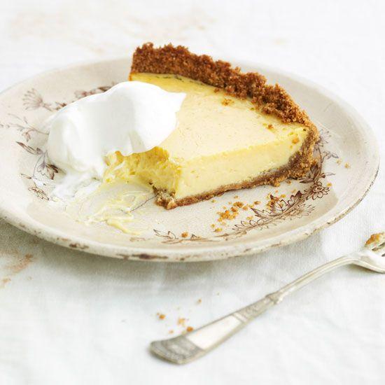 Lemon Ice Box Pie | This silken frozen pie is adapted from Clancy's, one of David Guas's favorite New Orleans neighborhood restaurants.