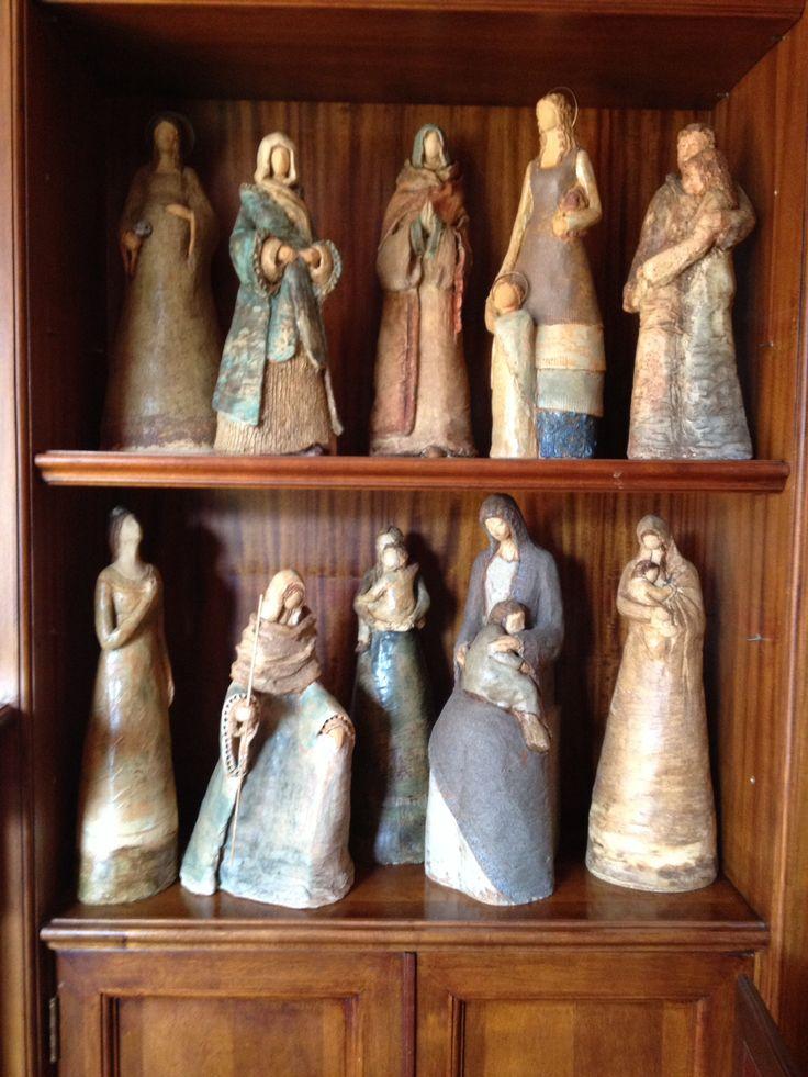 Listas para exposición, Gres esmaltado a 1250*C, Mónica Domínguez