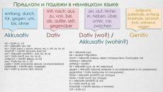 🔥 Предлоги и принадлежащие им падежи / Изучение немецкого языка