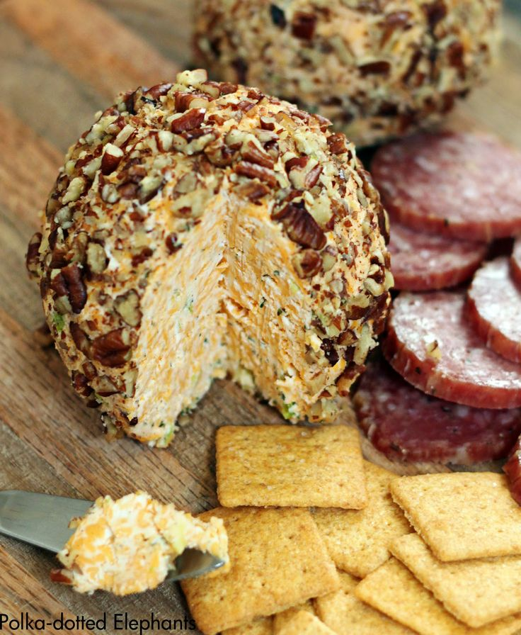 polka-dotted elephants: Cheese Ball- Quick, easy, and so delicious. Serve with crackers and salami for a perfect appetizer at your next family party.