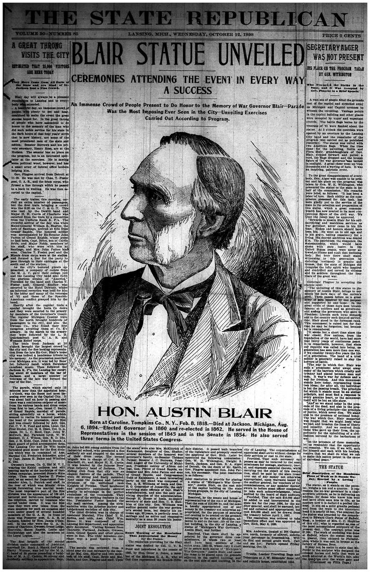 Image result for austin blair statue