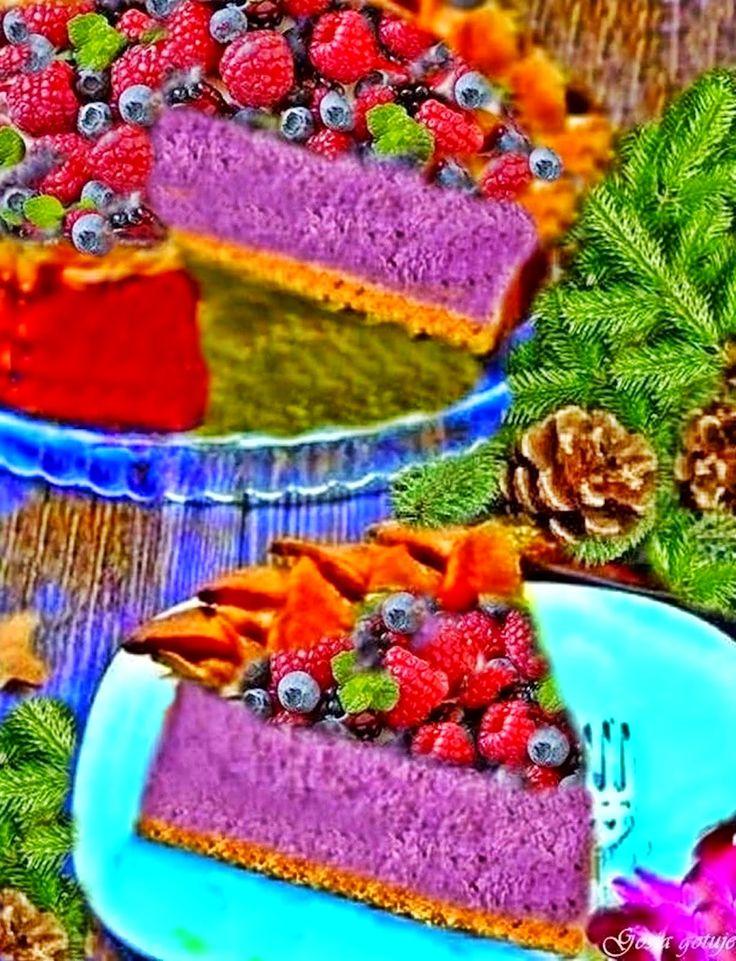 Gosia gotuje: Sernik jagodowo-malinowy