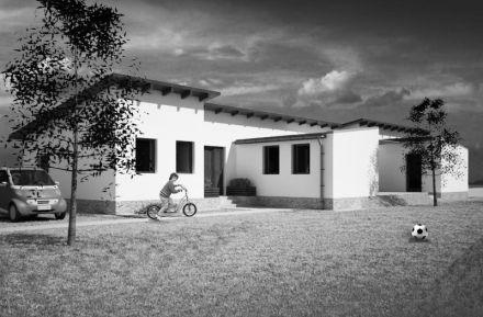 Modern parasztház Piliscsabán