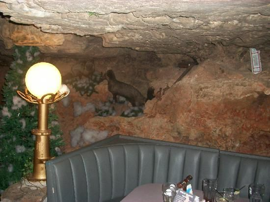 The cave a restaurant elevator and vehicles for Hillside elevator cost