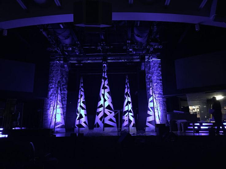 Criss Cross Trees from Crossroads Church in Loveland, Colorado | Church Stage Design Ideas