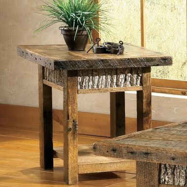Mossy Oak® Rustik™ End Table by Legacy Quest Outdoors