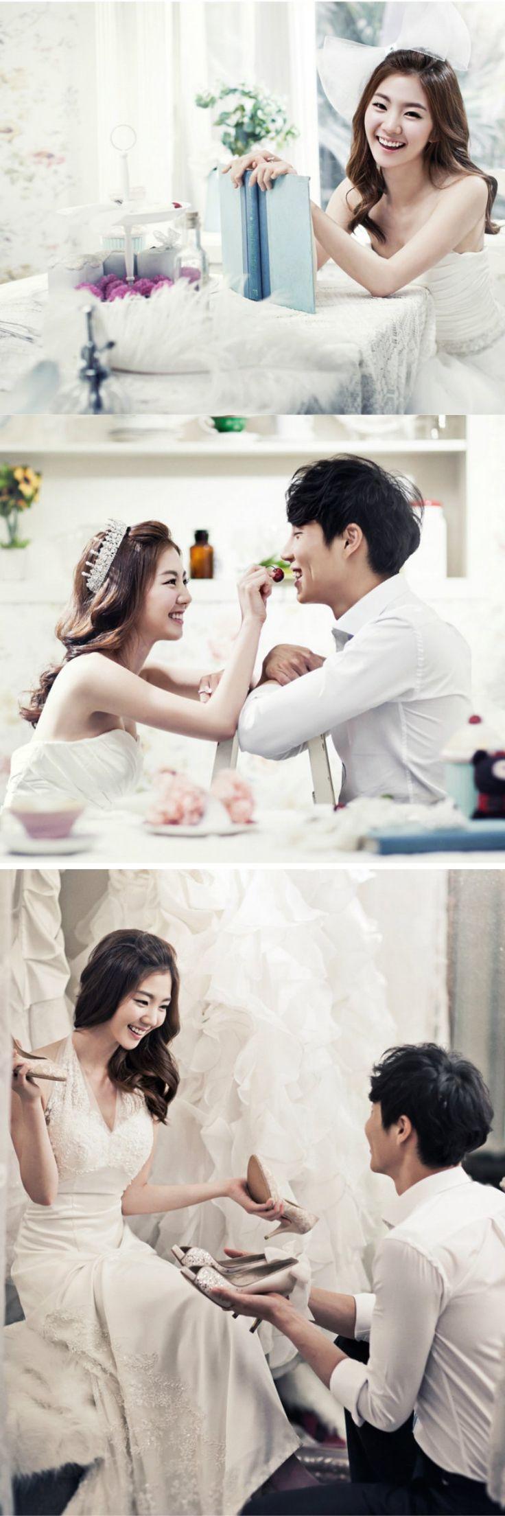 Elegant Korea wedding concept photos in studio