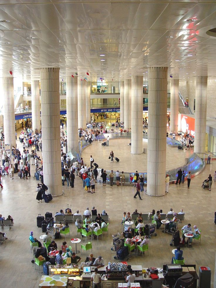 Ben Gurion Airport. Ben Gurion Airport, also referred to by its Hebrew acronym Natbag, is located near the suburb of Lod, 12 miles from Tel Aviv's city center, in the southeastern outskirts of Tel Aviv. Ben Gurion airport is considered one of the world's most secure airports.