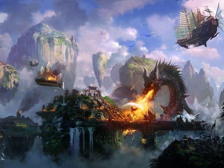 dragon landscape scenic wallpaper - photo #10