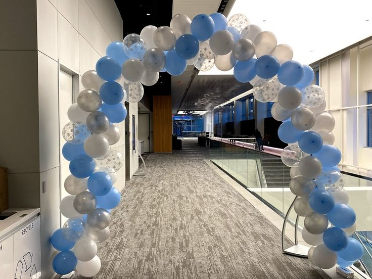 Balloon arch winter holiday theme in 2020 balloon arch